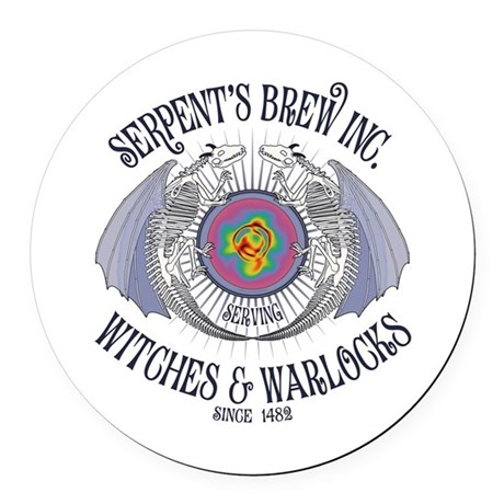 Serpent's Brew Round Car Magnet