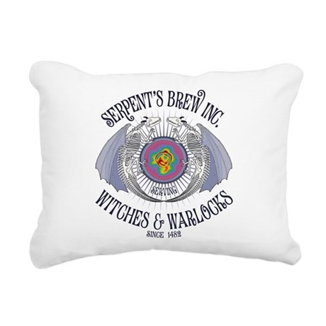 Serpent's Brew Rectangular Canvas Pillow