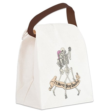 Dancing Skeletons Canvas Lunch Bag