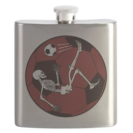 Soccer Skeleton Flask