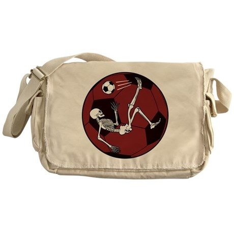 Soccer Skeleton Messenger Bag