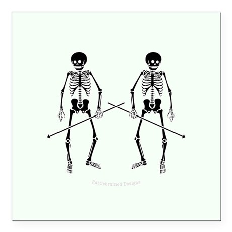 "Dance Macabre Square Car Magnet 3"" x 3"""