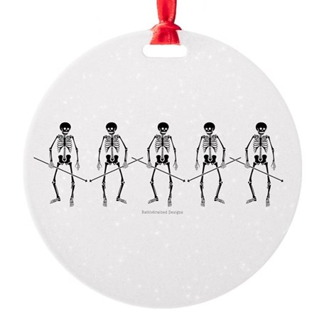 Dance Macabre Round Ornament