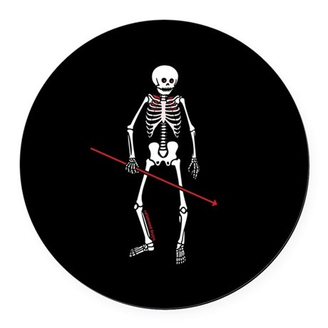 Hunting Skeleton Round Car Magnet