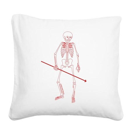 Hunting Skeleton Square Canvas Pillow