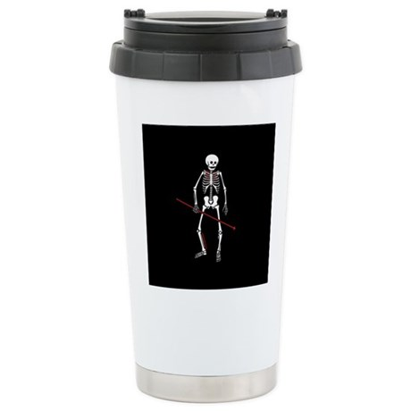 Hunting Skeleton Ceramic Travel Mug
