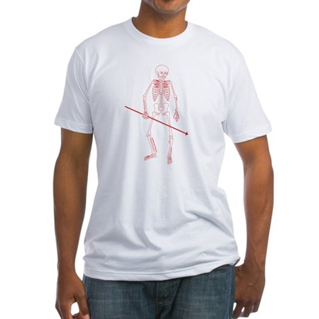 Hunting Skeleton Fitted T-Shirt