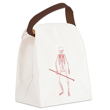 Hunting Skeleton Canvas Lunch Bag