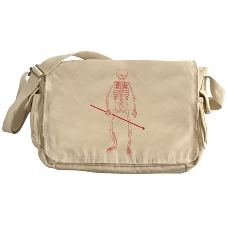 Hunting Skeleton Messenger Bag