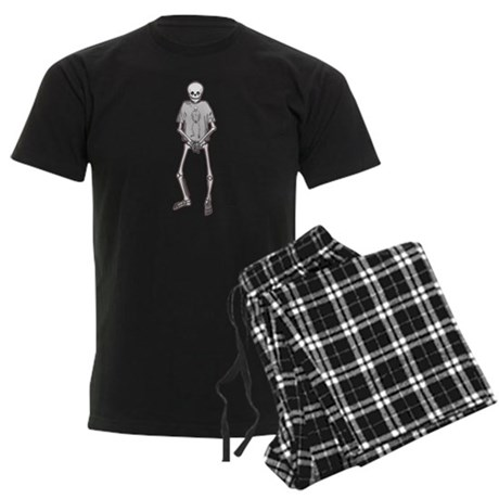 T-Shirt Skeleton Men's Dark Pajamas