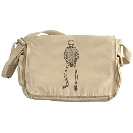 T-Shirt Skeleton Messenger Bag