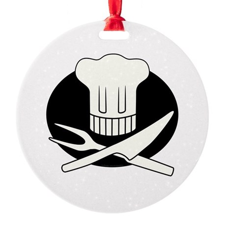 Pirate Chef Round Ornament