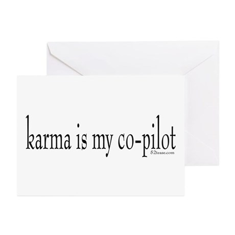 Karma is my Co-pilot Greeting Cards (Pk of 10)