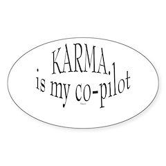 Karma is my Co-pilot Oval Sticker