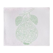 bismillah pear Throw Blanket