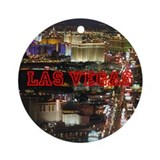 LAS VEGAS STRIP ROUND ORNAMENT
