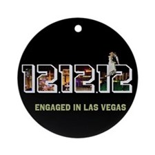 Engaged in Las Vegas 12 12 12 Ornament (Round)