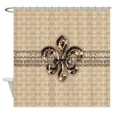 Fleur de lis Shower Curtains
