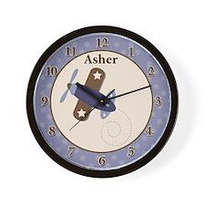 Zooming Along Airplane Clock - Asher Wall Clock