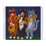 Cats Brass Section Throw Blanket