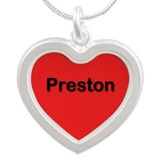 Preston Red Silver Heart Necklace