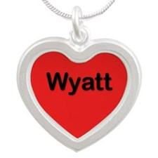 Wyatt Red Silver Heart Necklace