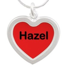 Hazel Red Silver Heart Necklace