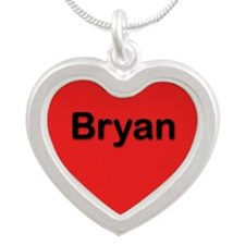 Bryan Red Silver Heart Necklace