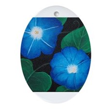 Morning Glory Ornament (Oval)