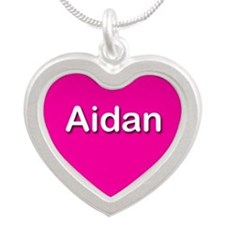 Aidan Pink Silver Heart Necklace