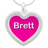 Brett Pink Silver Heart Necklace