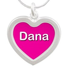 Dana Pink Silver Heart Necklace
