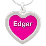 Edgar Pink Silver Heart Necklace