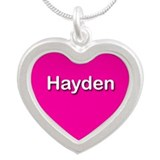 Hayden Pink Silver Heart Necklace