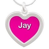 Jay Pink Silver Heart Necklace