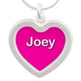 Joey Pink Silver Heart Necklace