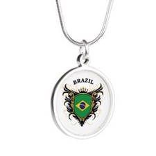 Brazil Silver Round Necklace