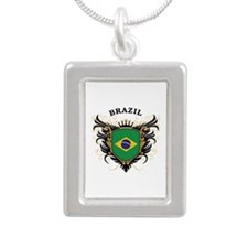Brazil Silver Portrait Necklace
