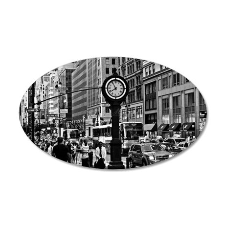 Fifth Ave - New York City 35x21 Oval Wall Decal