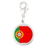 portuguese_flag.gif Silver Round Charm