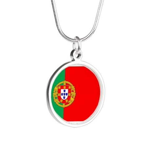 portuguese_flag.gif Silver Round Necklace