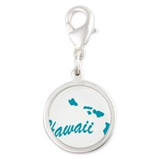 3-hawaii.png Silver Round Charm