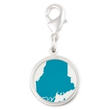 4-3-maine.png Silver Round Charm