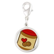 peanut-butter.png Silver Round Charm