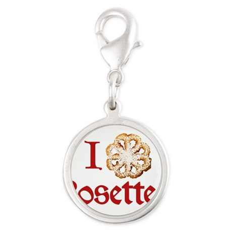 i-love-rosettes.png Silver Round Charm