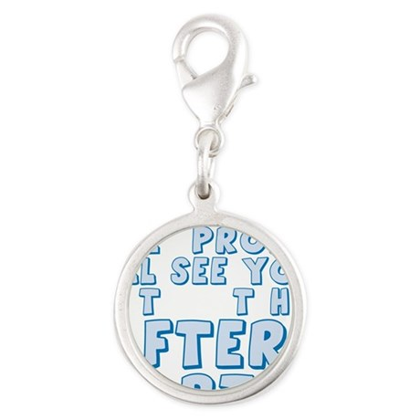 PROM-AFTERPARTY_blue.png Silver Round Charm