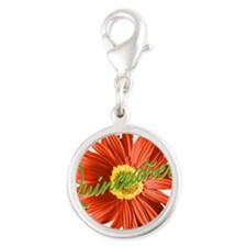 xv-red_quinceanera.png Silver Round Charm