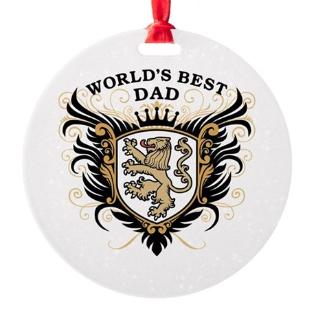World's Best Dad Round Ornament