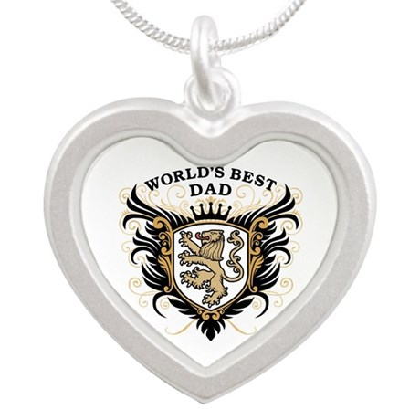 World's Best Dad Silver Heart Necklace
