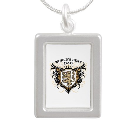 World's Best Dad Silver Portrait Necklace